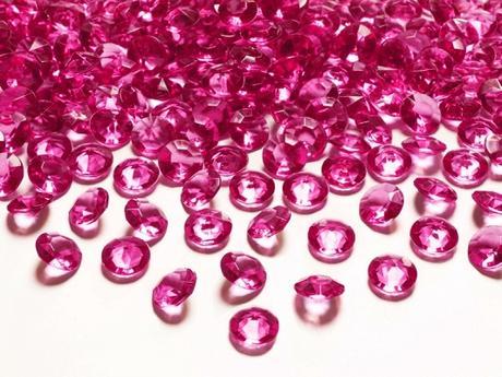 Dekoračné diamanty cyklaménové,
