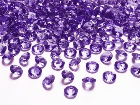 Dekoračné diamanty fialové,
