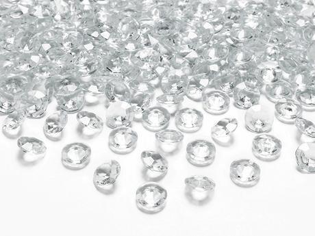 Dekoračné diamanty priehľadné,