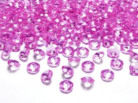 Dekoračné diamanty ružové,