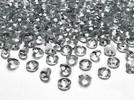 Dekoračné diamanty sivé,
