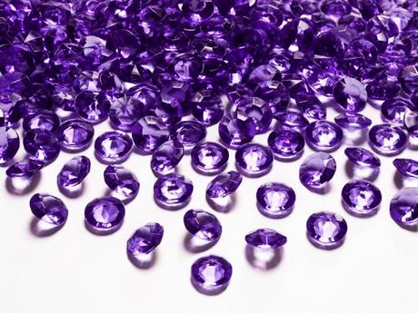 Dekoračné diamanty slivkové,