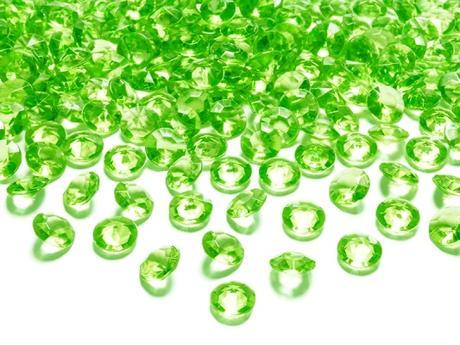 Dekoračné diamanty svetlozelené,