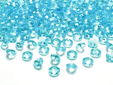 Dekoračné diamanty tyrkysové,