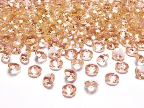 Dekoračné diamanty zlaté,