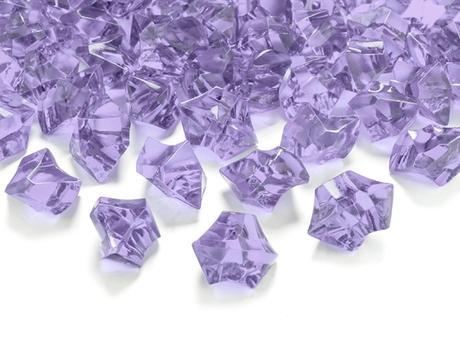 Dekoračné kryštály fialové,