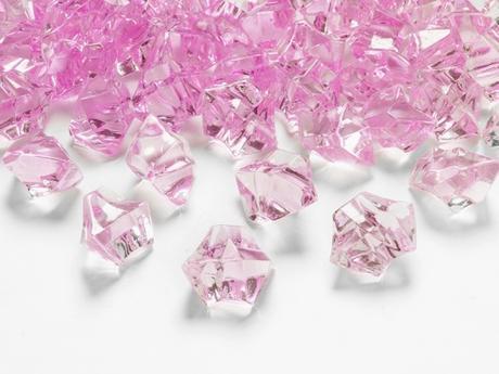 Dekoračné kryštály ružové,