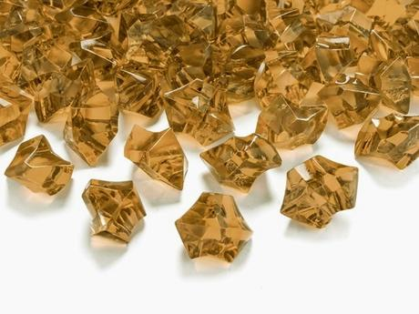 Dekoračné kryštály zlaté,