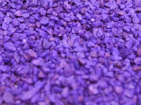 Dekoračný štrk fialový 500g,