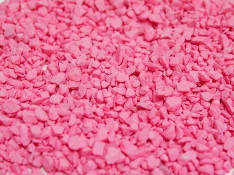 Dekoračný štrk ružový 500g,