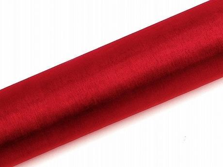Organza červená 16cm/9m,