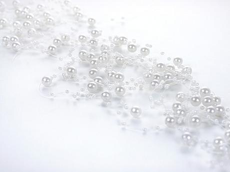 Perlová girlanda biela (5ks),