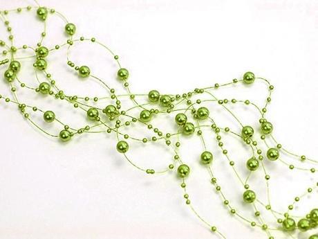 Perlová girlanda olivová (5ks),
