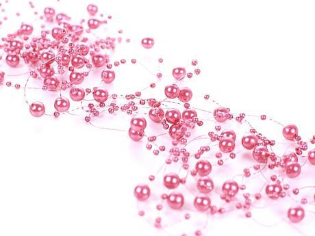 Perlová girlanda ružová (5ks),