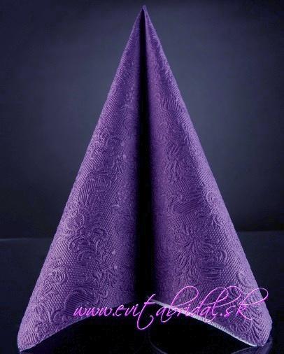Servítky reliéfne fialové,
