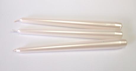 Sviečka kónická perleťová 25cm,
