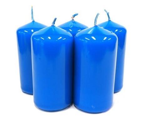 Sviečka valec kráľovský modrý 10cm,