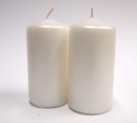 Sviečka valec perleťový 10cm,
