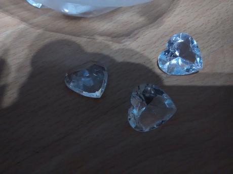 """Průsvitná srdíčka """"diamantíky"""","""