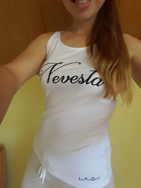 Tričko s nápisom Nevesta (S-M/36-38), S