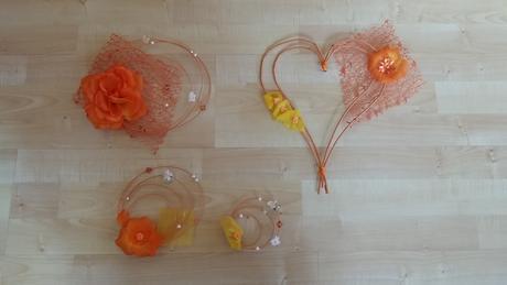 Oranžový set pro nevěstu,