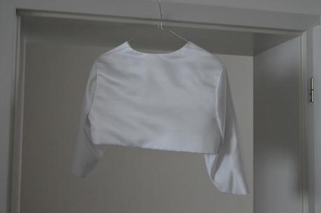 Svatební šaty kratší + bolerko, 38