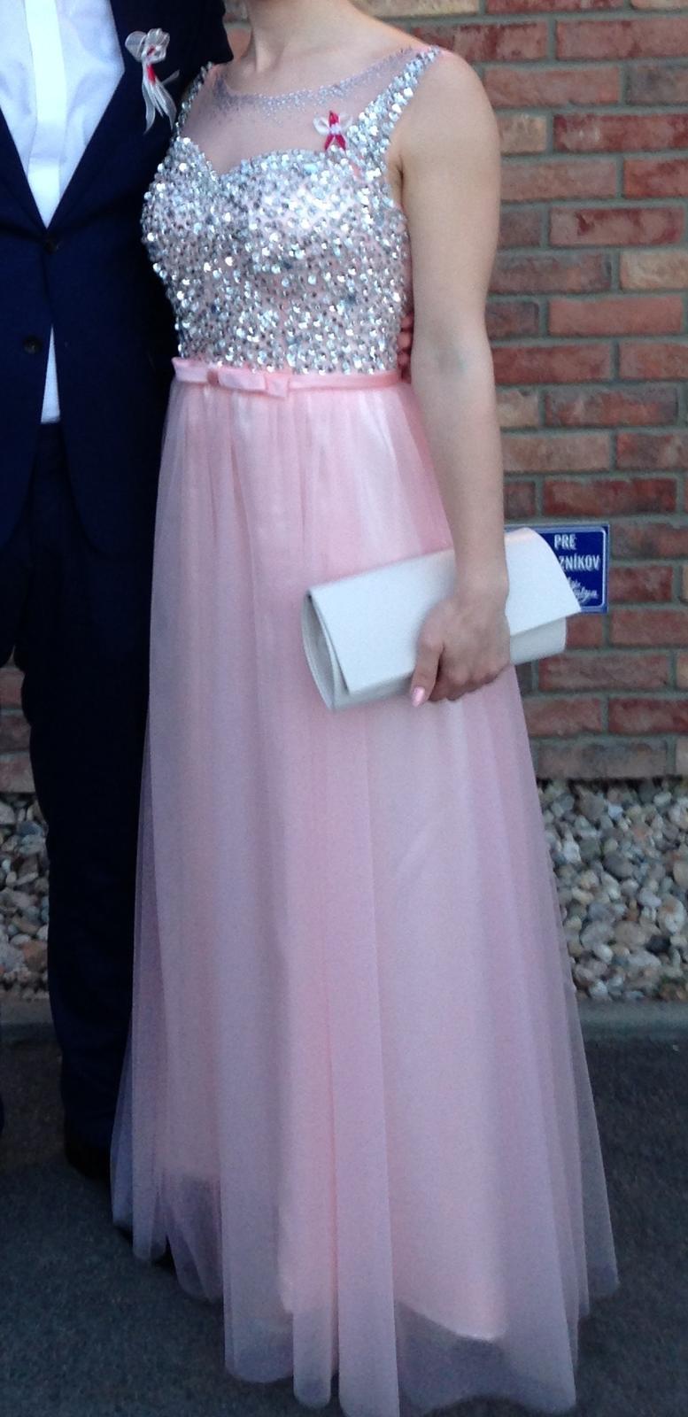 Ružové tylové šaty s mašličkou 36 38 8eccd477907