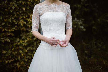 Šaty s krajkovým korzetem a tylovou sukní, vel. 36, 36