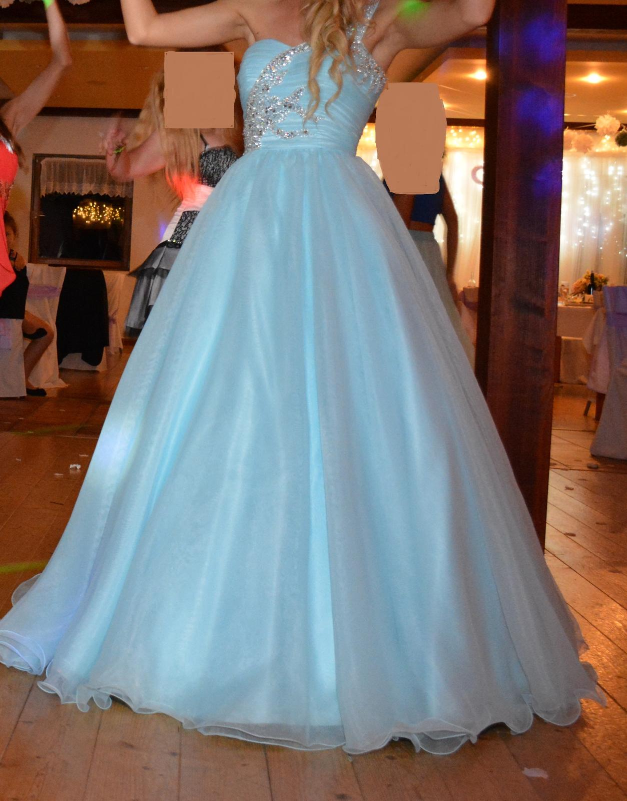 Spoločenské šaty - azúrovo modré 1c84e5f832d