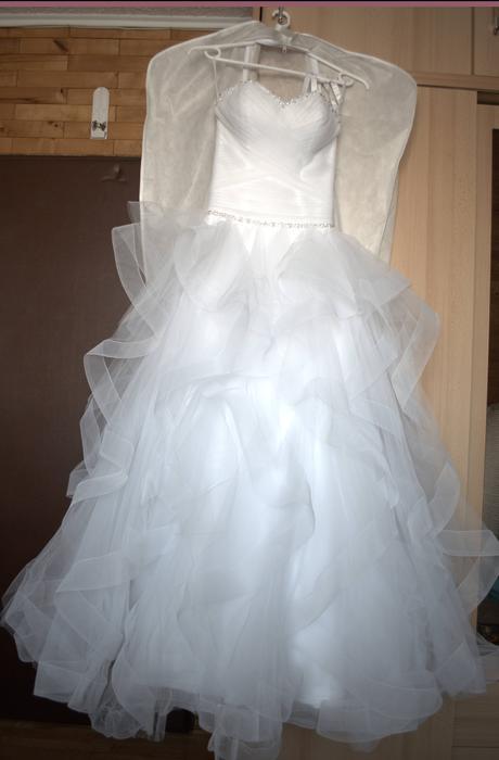 svadobné šaty luxusné snehovo-biele, 37