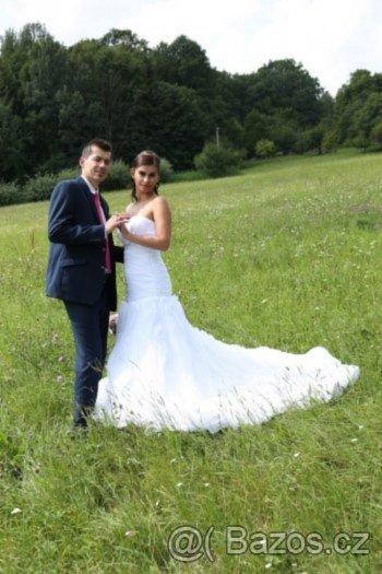 Svatební šaty vel. 36, možné upravit i na 38, 36