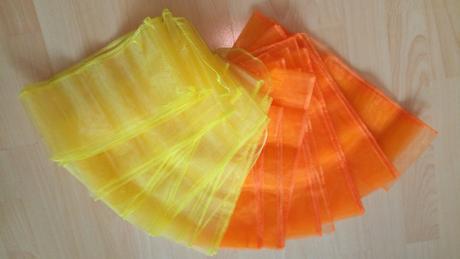 ORGANZY - oranžová, žltá,