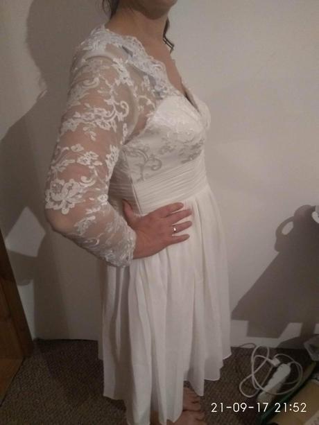 nenosene kratke svatebni saty 40-42, 40
