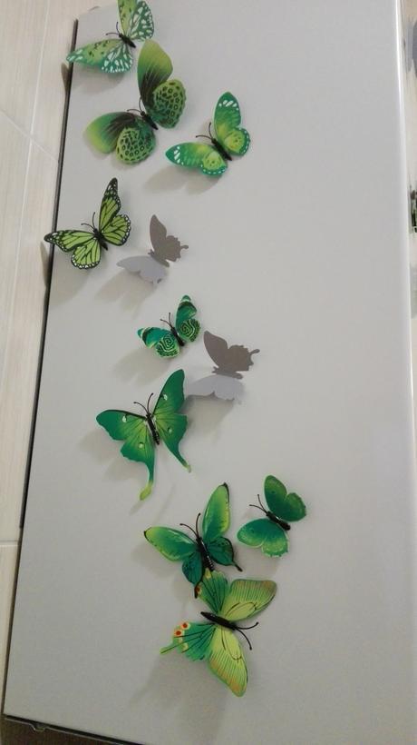 3D motýliky,
