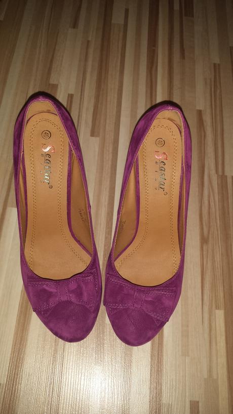 Vínovo cyklamenové topánky, 40