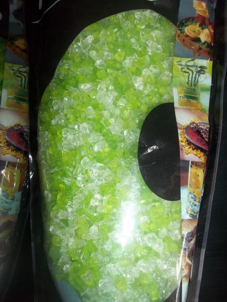 3ks balení dekoračných sklenených kamienkov,