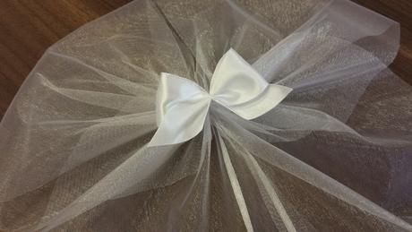 Bílé svatební mašle XXL,