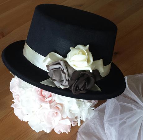 Cylindr na svatební auto-čoko+kapučíno+krémová,