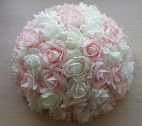 Cylindr na svatební auto- růžová a bílá ,
