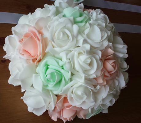 Cylindr na svatební auto - zelené jablko + bílá,