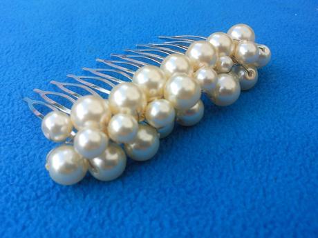 Ivory perličkový svatební hřebínek ,