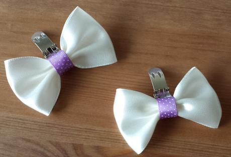 Klipy na boty pro nevěstu s ivory mašličkou,
