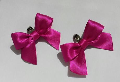 Klipy na boty pro nevěstu s růžovou mašličkou ,