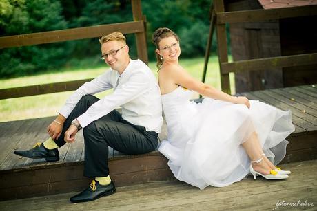Klipy na boty pro nevěstu se ZELENOU mašličkou,