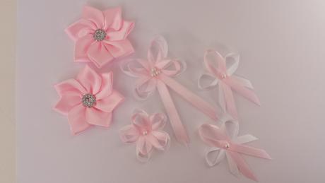 Krajkový bílo/růžový SW podvazek, 42
