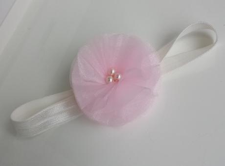 Lila kytička pro družičku / tmavě fialová perlička,