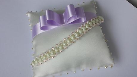 Lila svatební vývazky,