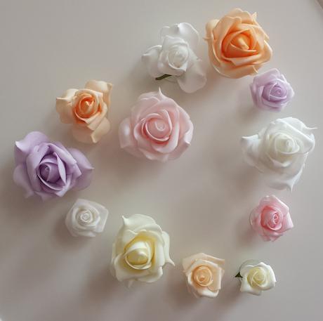 Pěnové růže s přísavkou,