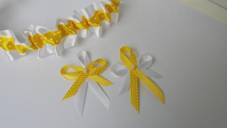 Puntíkaté žluté vývazky,