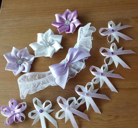 Růžová a ivory - svatební vývazky,
